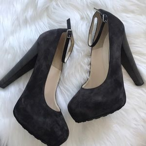 Brian Atwood Shoes - Brian Atwood Dark Brown Suede Pumps